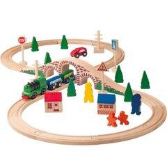 Поезд с рельсами и модель автомобиля Woody, 91121