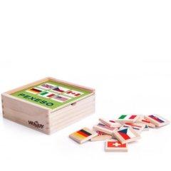 Puidust mälu (memo) kaardid Lipud Woody, 93058, 44 osa