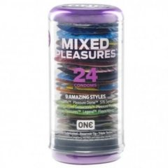Kondoomid ONE Mixed Pleasures, 24 tk
