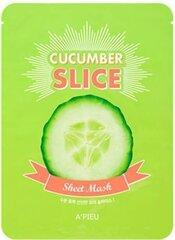 Niisutav-siluv näomask A'Pieu Sheet Mask Cucumber Slice 20 g