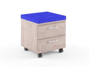 Kapp-tumba Xten XMC-2D, tamme/sinine värv   hind ja info | Elutoa väikesed kapid | kaup24.ee