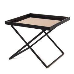 Laud 60x60x51 cm, must hind ja info | Diivanilauad | kaup24.ee