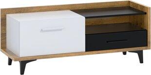 TV-laud Meblocross Box 08 1D1S, pruun/valge