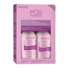Komplekt protseduure koos keratiiniga INOAR Pos Progress Duo Kit: šampoon 250 ml + juuksepalsam 250 ml