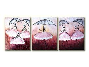 Kolmeosaline maal Baleriin, 150x60cm, L цена и информация | Картины, живопись  | kaup24.ee