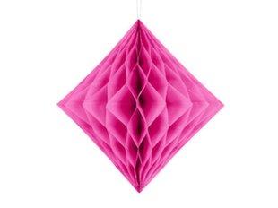 Riputatav kaunistus Diamond 20 cm, Tumeroosa, (1 pk/1 tk)