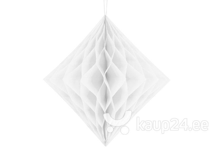 Riputatav kaunistus Diamond 20 cm, Valge, (1 pk/1 tk)
