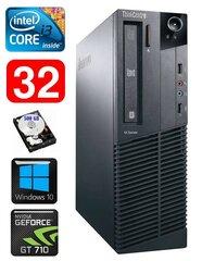 Lauaarvuti Lenovo ThinkCentre M82 SFF i3-2120 32GB 500GB GT710 2GB WIN10