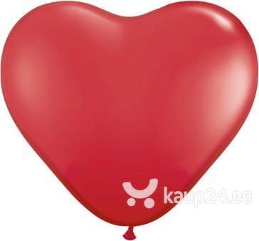 Õhupallid 10'' Hearts Pastel, punane, 100 tk.