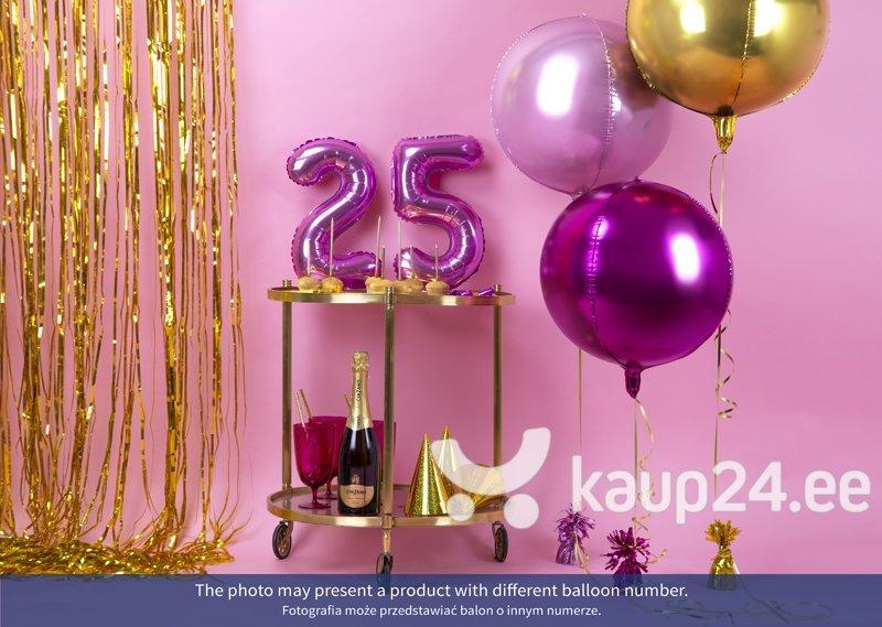 """Fooliumist õhupall Number """"6"""", 35 cm, roosa, 50 tk. hind"""