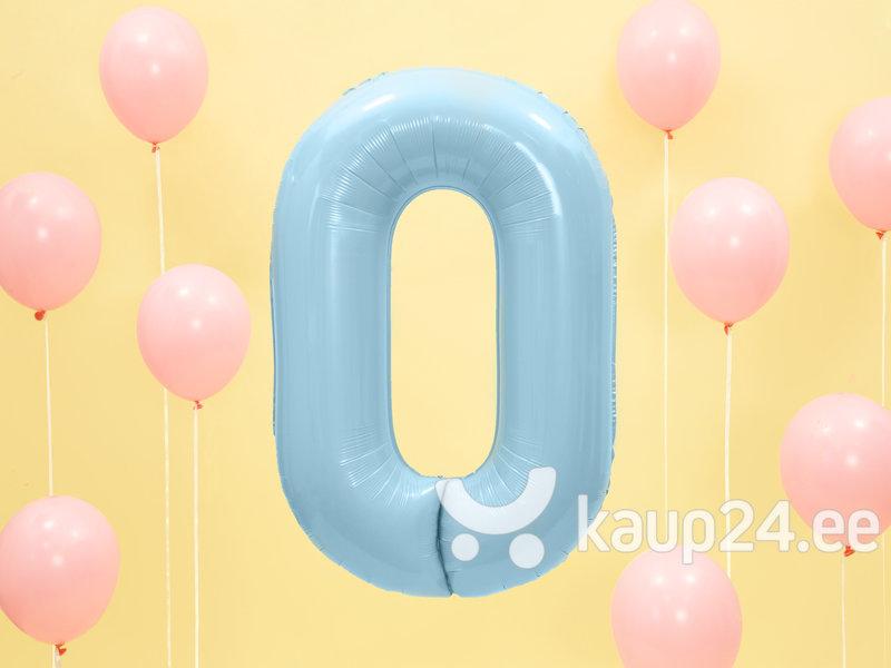 """Fooliumist õhupall Number """"0"""", 86 cm, helesinine hind"""