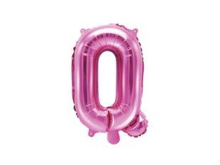 """Fooliumist õhupallid Täht """"Q"""" 35 cm, roosa"""
