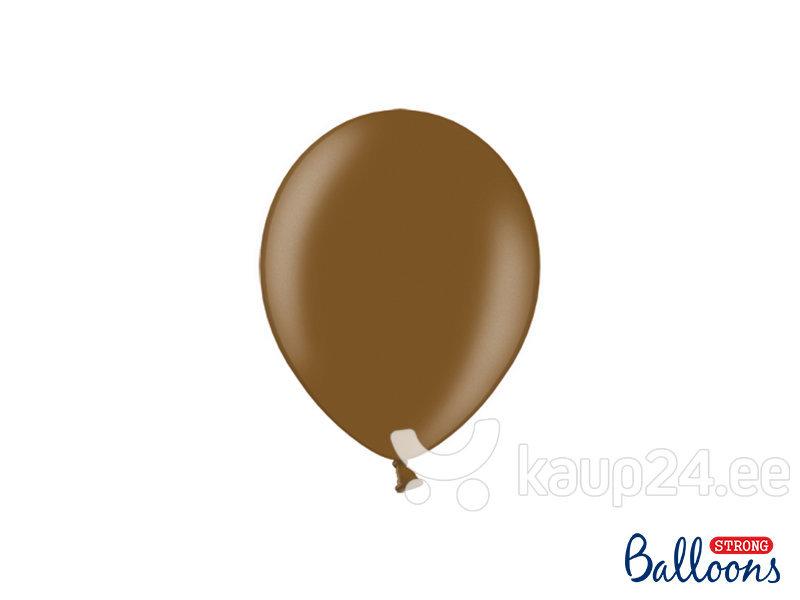 Tugevad õhupallid 12 cm Metallic Chocolate, pruun, 100 tk.