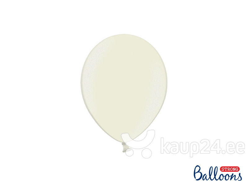 Tugevad õhupallid 12 cm Metallic, kreem, 100 tk.