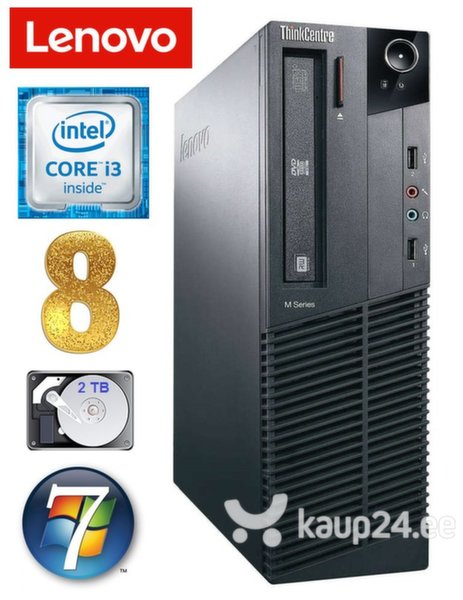 Lenovo ThinkCentre M82 SFF i3-2120 8GB 2TB WIN7Pro