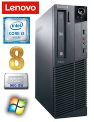 Lenovo ThinkCentre M82 SFF i3-2120 8GB 960SSD WIN7Pro