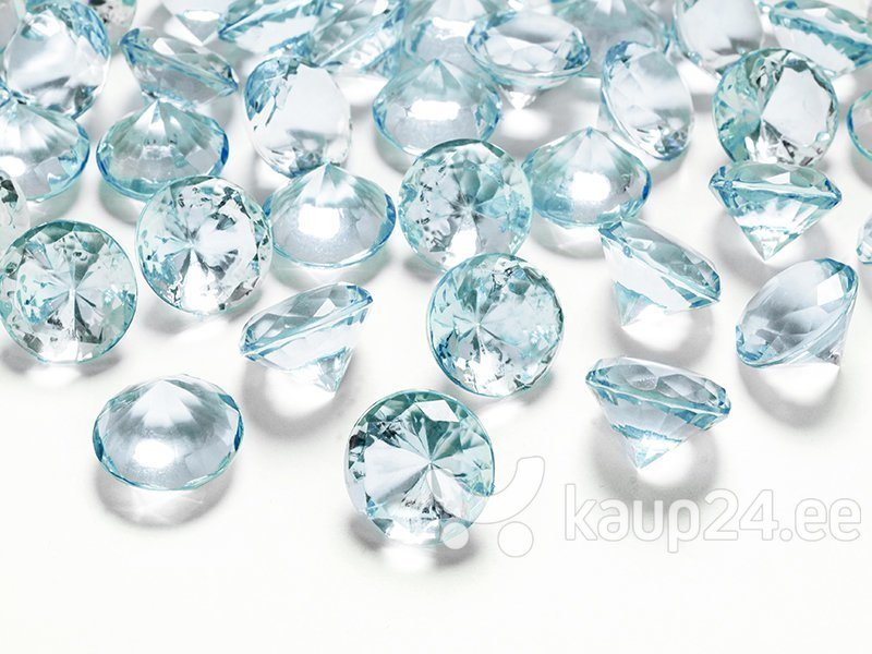 Konfetid Diamond 20 mm (1 pakk/10 tk.), türkiis