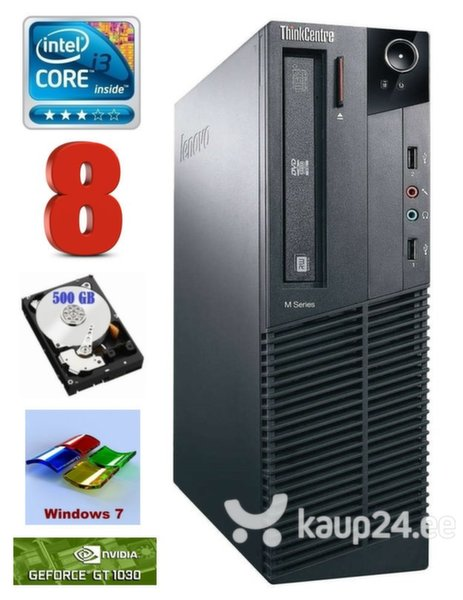 Lenovo ThinkCentre M82 SFF i3-2120 8GB 500GB GT1030 2GB WIN7Pro