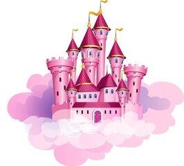 Наклейка для детского интерьера Замок принцессы на облаках цена и информация | Наклейка для детского интерьера Замок принцессы на облаках | kaup24.ee