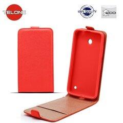 Kaitseümbris Telone Shine Pocket Slim Flip / Sony Xperia M4 Aqua, Punane