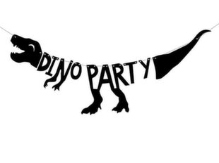 Гирлянда Dinosaurs Dino Party, черная, 20x90 см, 1 шт