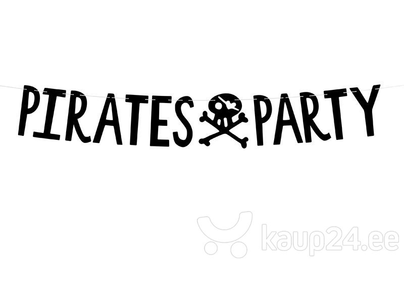 Vanik Pirates Party, must, 14x100 cm, 1 tk
