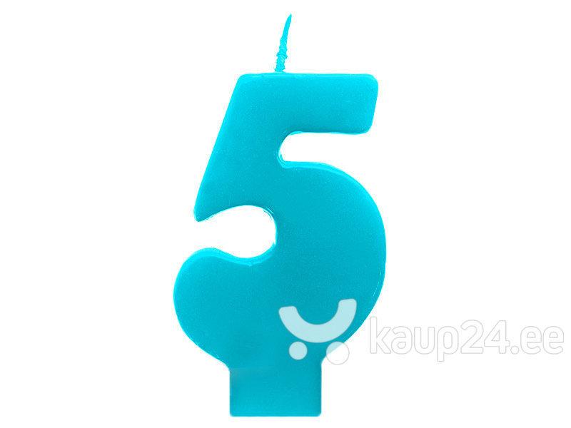 Свечи к Дню рождения Число 5, темно-синие, 6,5 см, 30 шт.
