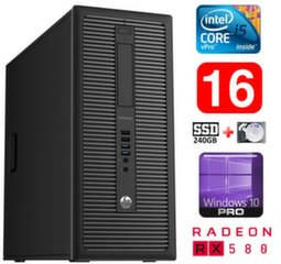 HP 600 G1 MT I5-4590 16GB 240SSD+1TB RX580 8GB WIN10Pro