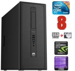 HP 600 G1 MT I5-4590 8GB 240SSD+1TB GTX1660Ti 6GB WIN10Pro