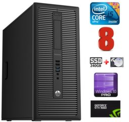 HP 600 G1 MT I5-4590 8GB 240SSD+2TB GTX1660 6GB WIN10Pro