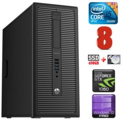 HP 600 G1 MT I5-4590S 8GB 480SSD+2TB GTX1060 6GB WIN10Pro