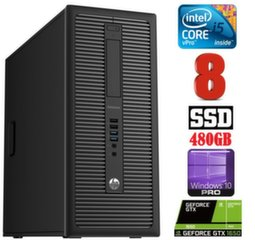 HP 600 G1 MT I5-4590S 8GB 480SSD GTX1650 4GB WIN10Pro