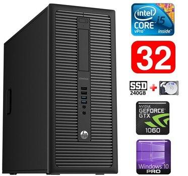 HP 600 G1 MT I5-4590S 32GB 240SSD+2TB GTX1060 6GB WIN10Pro