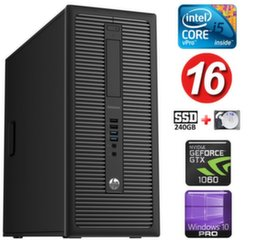 HP 600 G1 MT I5-4590 16GB 240SSD+1TB GTX1060 6GB WIN10Pro