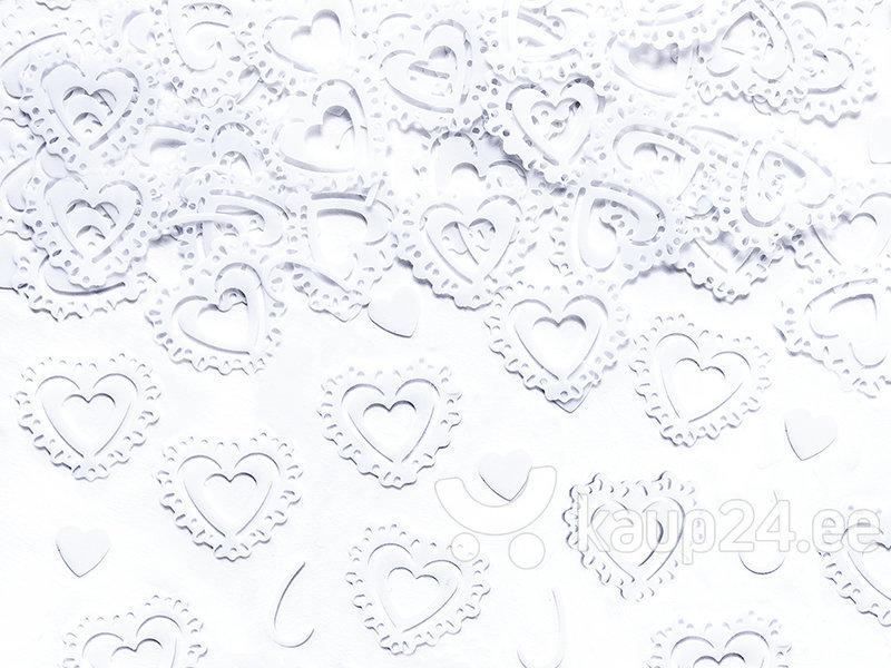 Конфетти Сердца, белые, 1 коробка / 50 упаковок (1 упаковка / 15 г)