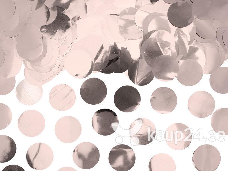 Конфетти Кружочки, розовое золото, 2,5 см, 1 упаковка / 15г