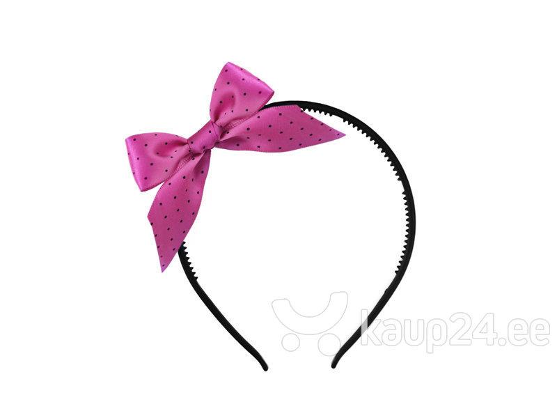 Обруч с розовым бантиком и черными точками для девичника