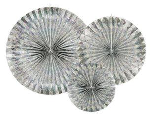 Подвесные украшения-веера Holographic, 1 коробка/50 упаковок (1 упаковка/3 штуки)