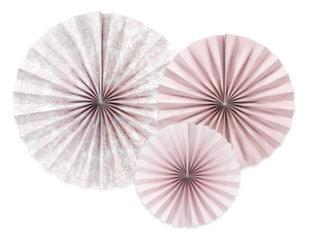 Dekoratiivne rosett Peonies Mix, 1 pak/3 tk hind ja info | Peokaunistused | kaup24.ee