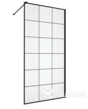 Industriaalses stiilis dušikabiin Wellneo Walk-In Black Frame