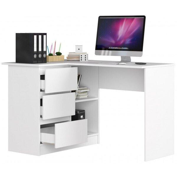 Письменный стол B16, левый, белого цвета интернет-магазин