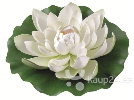 Kunstlill vesiroos, valge , 28 cm