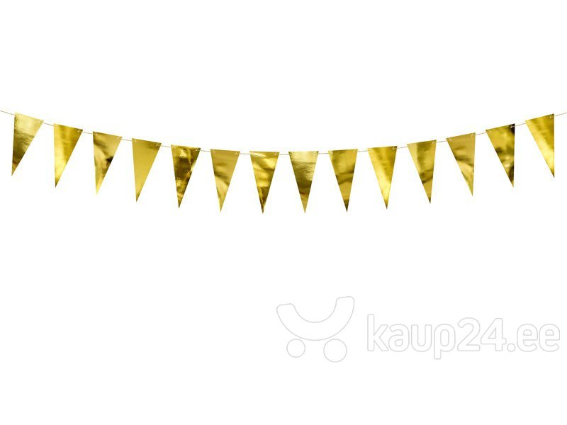 Бумажная гирлянда Bunting Gold 2,15 м (1 коробка/ 50 шт)