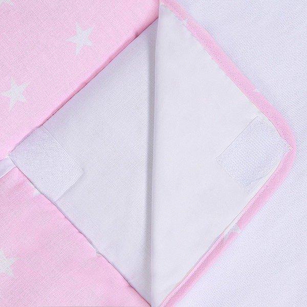 Пеленальный матрас для малышей LULANDO, White Stars / Pink, 75x85 см дешевле