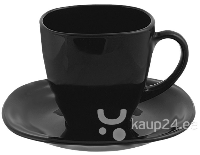 Tasside komplekt Luminarc Carine White & Black, 12-osaline