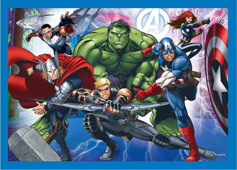Pusle komplekt Trefl 4 in 1 Avengers, 70+54+48+35 soodsam