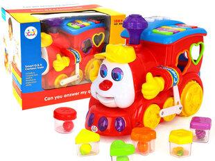Паровоз с цветными кубиками, Huile Toys