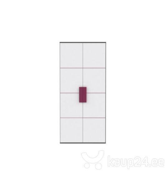 Riidekapp Libelle, valge/hall/lilla