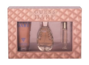 Komplekt Guess Dare naistele: tualettvesi EDT 100 ml + tualettvesi EDT 15 ml + ihupiim 200 ml