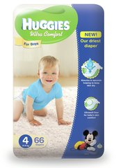 Mähkmed poistele HUGGIES Ultra Comfort Boys, 4 suurus, 66tk.